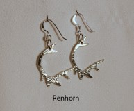 Reindeer Antler Earrings