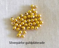 Silver Beads Gold-Plated 2,5 mm